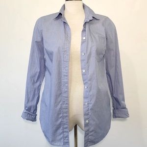 J. Crew Blue Button-down Shirt Size 2 Tall